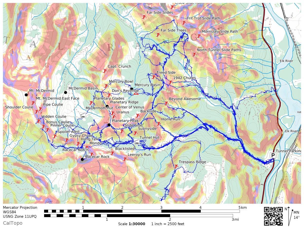 Fernie Ski Touring Maps Updated Feb.2020